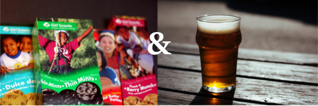 Girl Scout Cookie pairing with beer