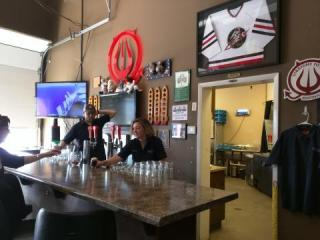 The taproom at Straight to Ale's Leeman Ferry brewery.